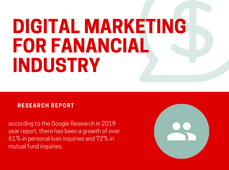 digital marketing for financial industry chart